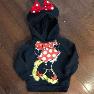 Minnie Mouse Hoodie with ears & bow